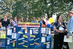 [Photo 2:  Housing partners joined forces to share information]