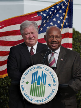 [Photo: Secretary Jackson and Mississippi Governor Haley Barbour]