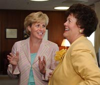 [Photo: Assistant Secretary Pamela Patenaude and Lt. Governor Toni Jennings]