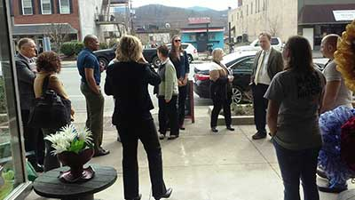[Photo: Local experts and community members tour Middlesboro, Kentucky.]
