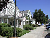 Photo of a row of residences in Lavell Village