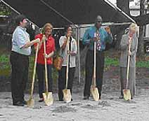 Photo of groundbreaking at Angel Tree